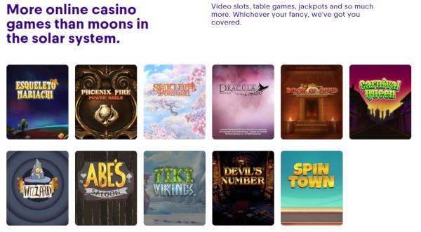 game selection casumo casino