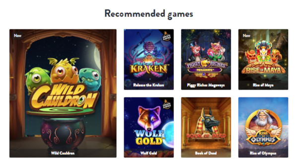 Dunder Casino India Game Selection