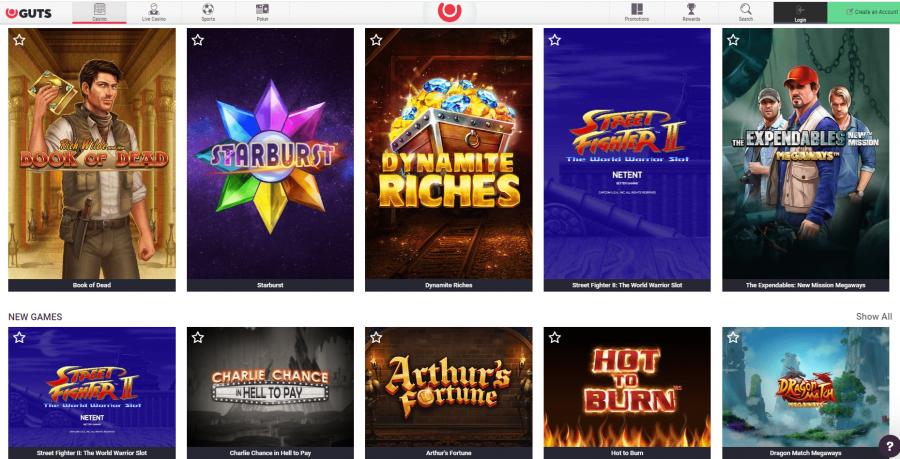 Games Guts Casino India