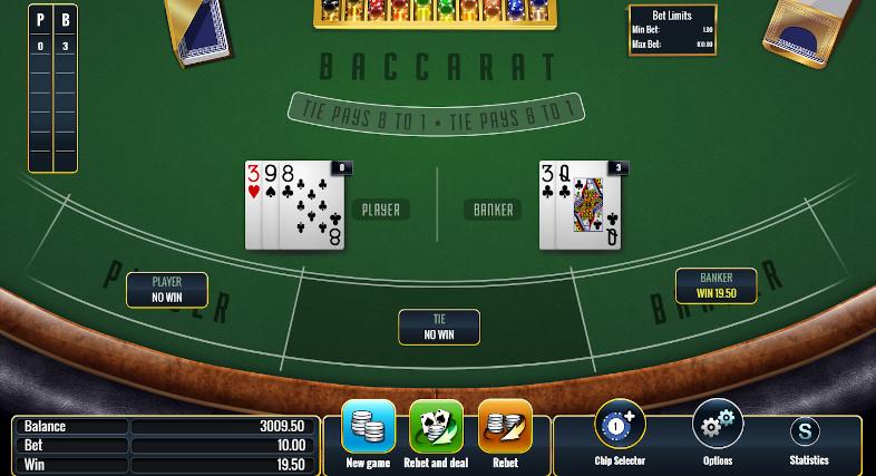 Baccarat Online Casino Win Banker
