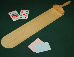 Baccarat Paddle and Cards
