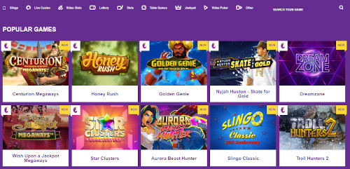 Yako Casino Game Selection overview
