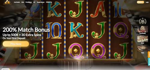Temple Nile Casino Homepage
