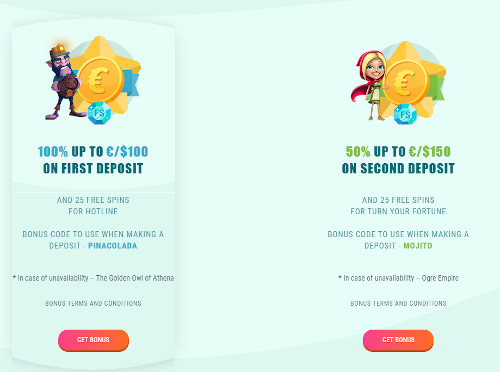Spinia Casino Promotions