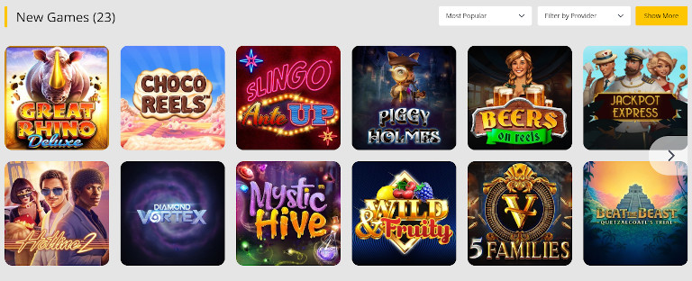 10Cric Casino Game Selection