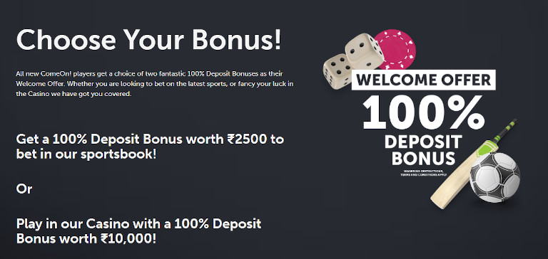 Comeon Casino Welcome Bonus