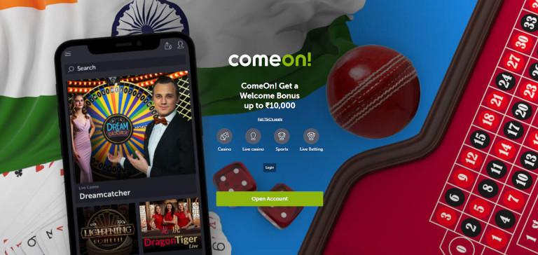 Comeon Casino Homepage