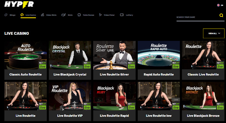 Hyper Casino Live Casino
