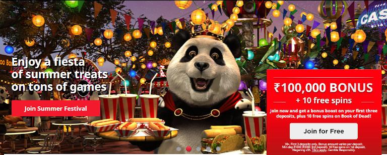 Royal Panda Casino Homepage
