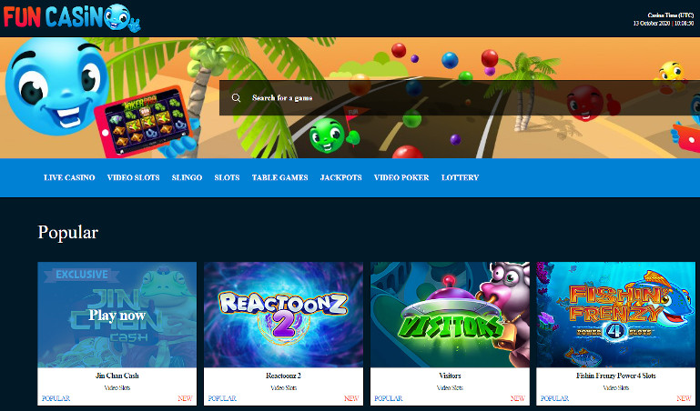 Fun Casino Review India Homepage