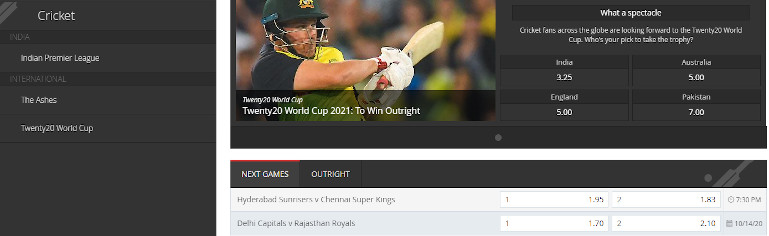 Intertops Casino India Cricket Betting