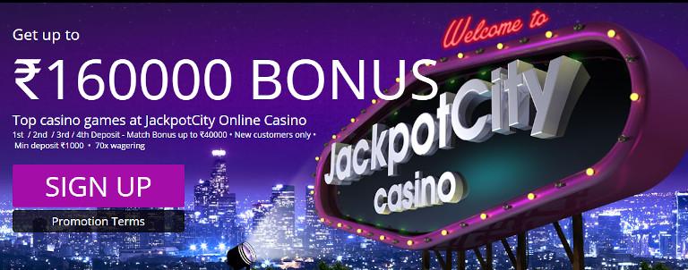 Jackpot City India Welcome Bonus