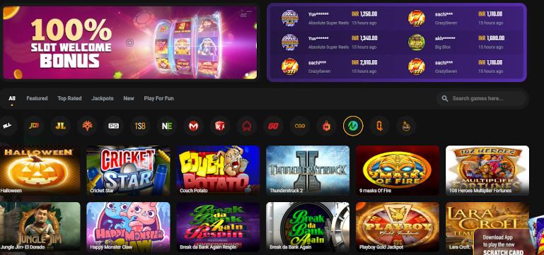 Jeetwin Casino India Game Selection