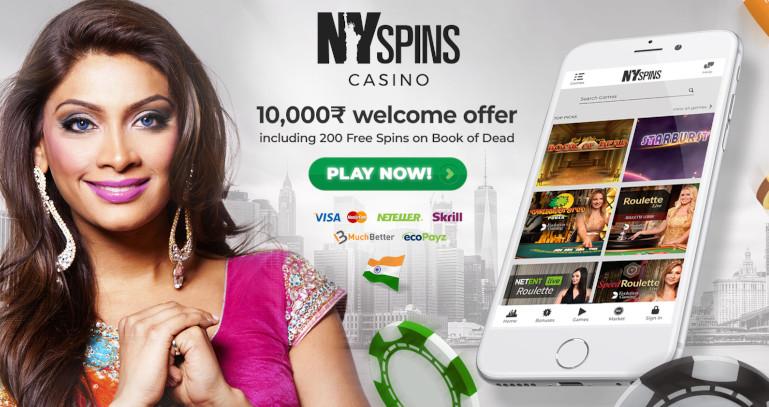 NY Spins Casino India Welcome Bonus