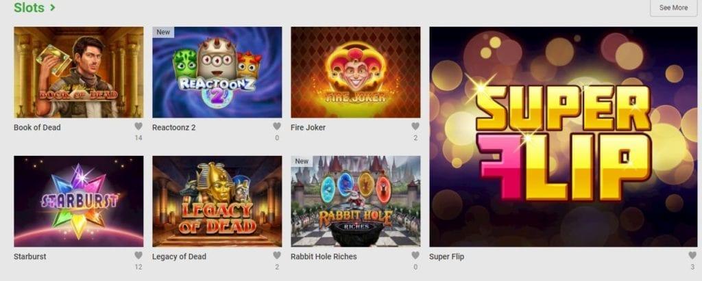 Unibet Casino Slots