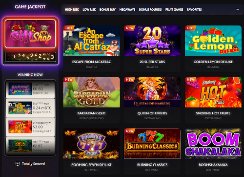 7BitCasino India Game Selection