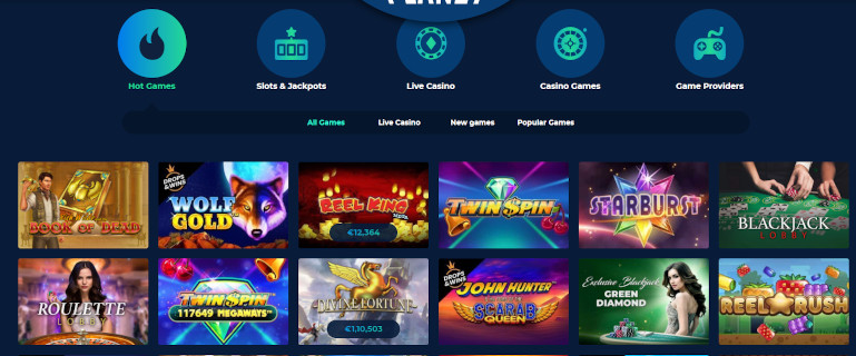 Casino Planet India Game Selection