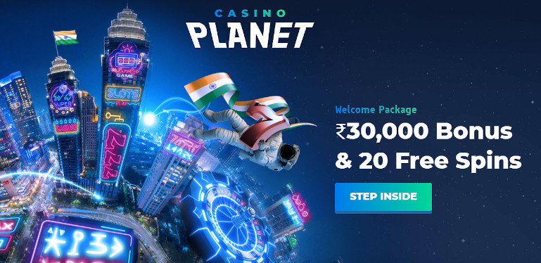 Casino Planet India Welcome Offer