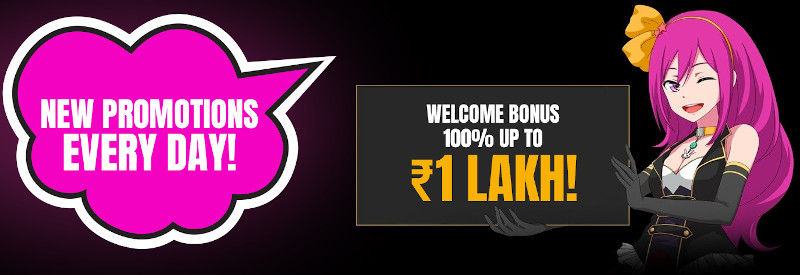 LuckyNiki Casino India Welcome Bonus of 1 Lakh